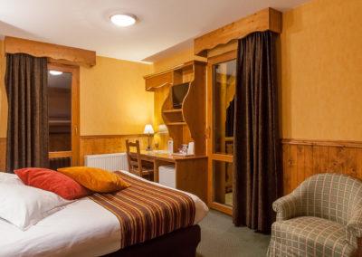 Les chambres double de l'hôtel les balcons village de Belle Plagne